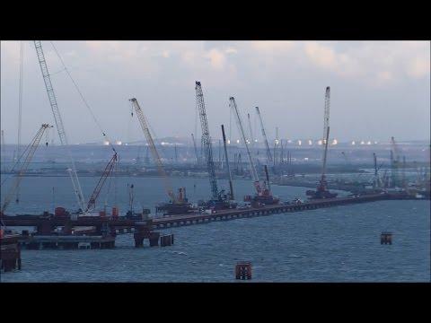 Строительство Керченского моста (декабрь, 2016).