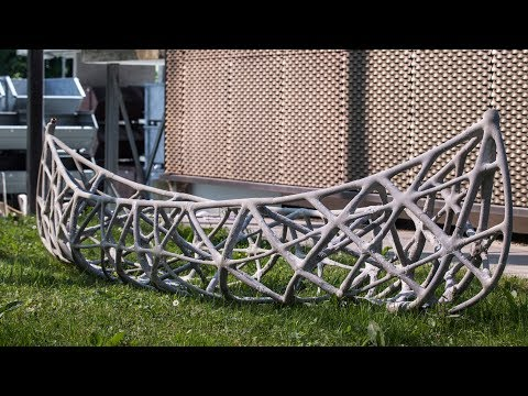 ETH Zurich team casts concrete bones for SkelETHon canoe