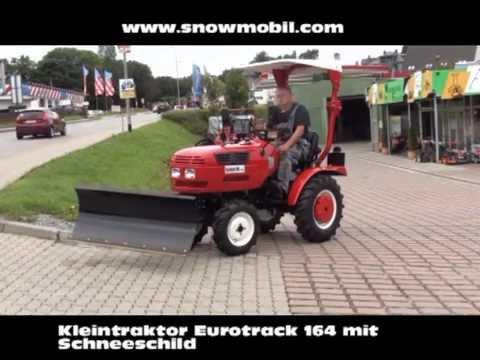 Kleintraktor Eurotrack 164 mit Schneeschild