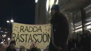 Rädda Råstasjön - Demonstration i Solna Centrum 28/2-13