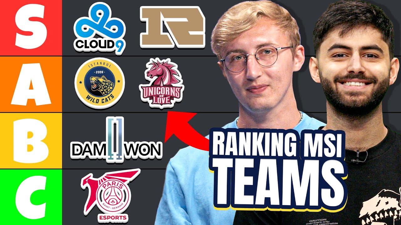 Ranking the BEST & WORST League of Legends MSI Teams ft. Yassuo & GoldenGlue | Run It Down