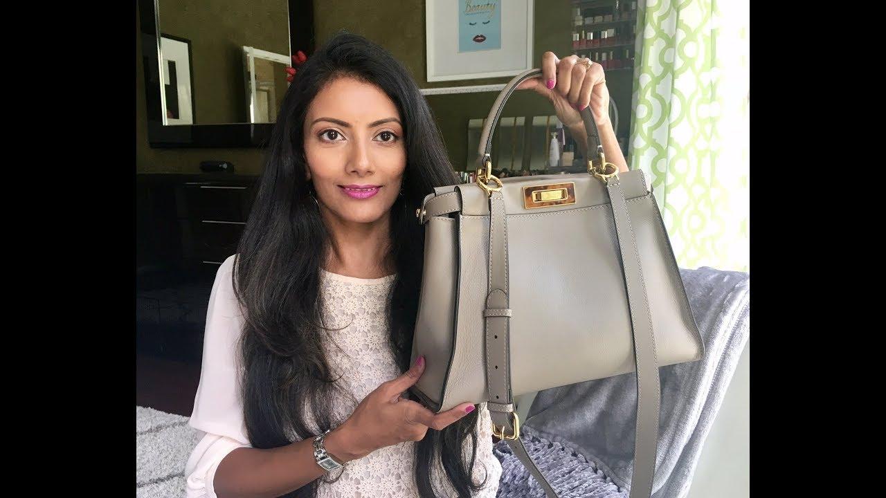 ce26a9f20be9 Fendi Peekaboo Regular Medium Handbag Review - YouTube