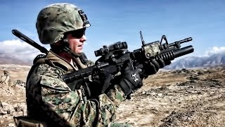Firing The M203 Grenade Launcher With M4 Carbine