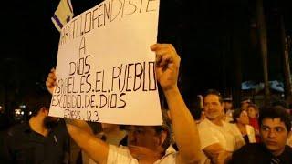Protestas por la embajada de Paraguay en Israel