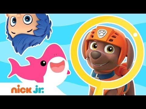 Find The Sharks Game! 🦈 W/ PAW Patrol, Blaze, Dora & More! | Nick Jr. Games | Nick Jr.