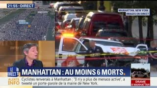 EN DIRECT - New York: un véhicule percute des passants, au moins 6 morts et des blessés