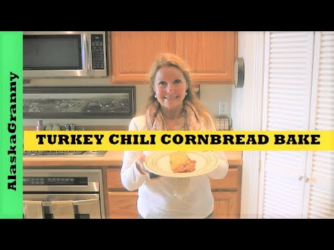 Turkey Chili Cornbread Bake Pantry Clean Out Recipe
