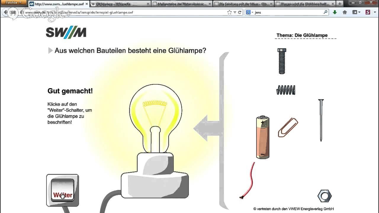 Jens Erklärt Warum Brennt Eine Glühbirne Wissen Technik Youtube