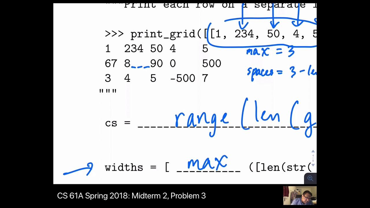 CS 61A Spring 2018 Midterm 2 – Problem 3 (Lists)
