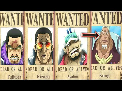 All Admirals Bounties In One Piece - One piece chapter 911+