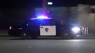 Police Cars Responding Code 3 Compilation (Gunshots Heard + Robbery Suspect)