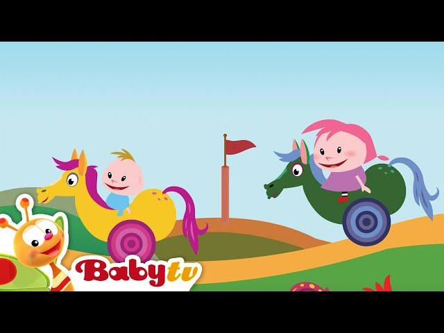 Playground | Dominoes Falling & Hot Air Balloon | BabyTV