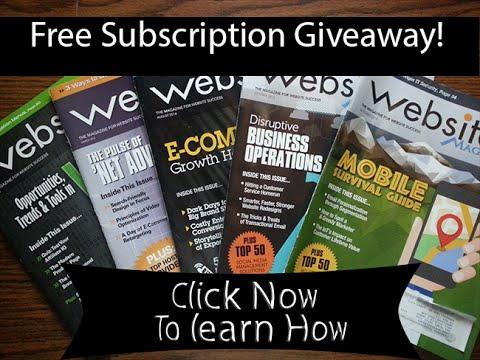 Limited-Free Marketing Magazine for Web Professions