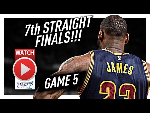 LeBron James Full Game 5 Highlights Vs Celtics 2017 Playoffs ECF - 35 Pts, 8 Ast, 8 Reb In 3 Qtrs!