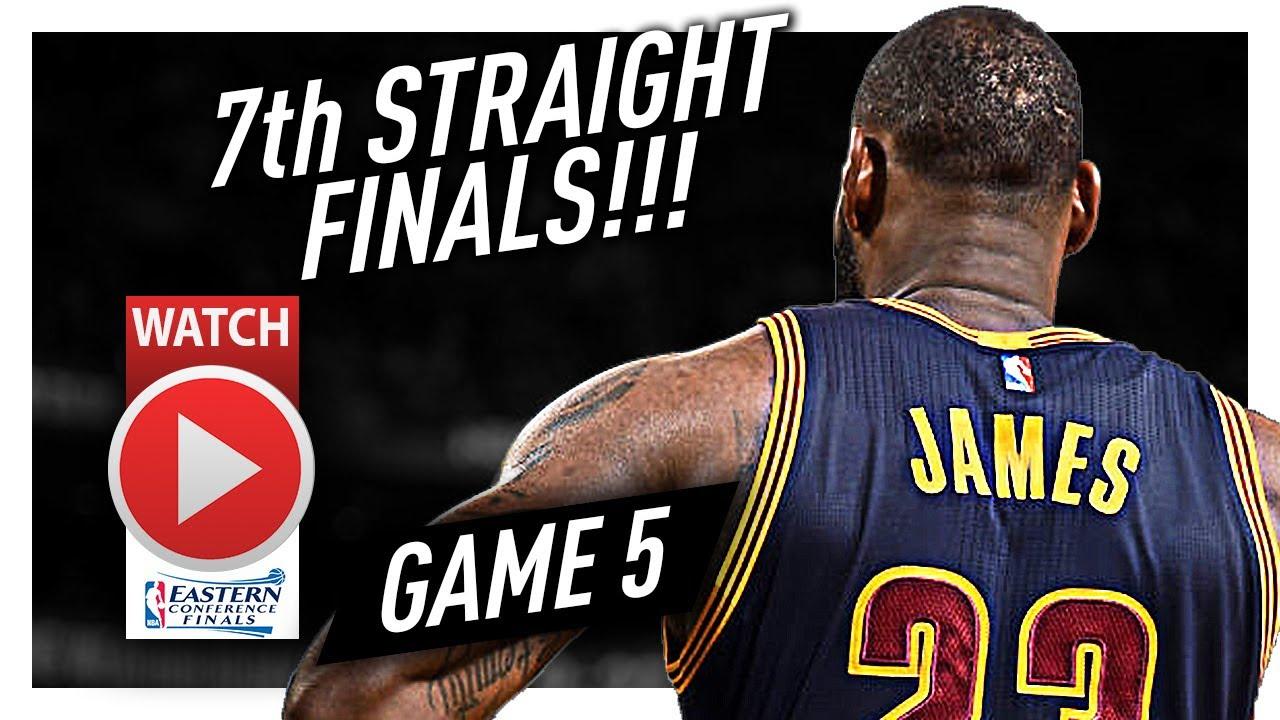 807a647e541 LeBron James Full Game 5 Highlights vs Celtics 2017 Playoffs ECF - 35 Pts