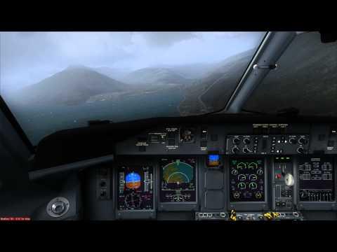FSX Majestic Software Dash 8-Q400 Landing At Ísafjörður, BIIS RW08