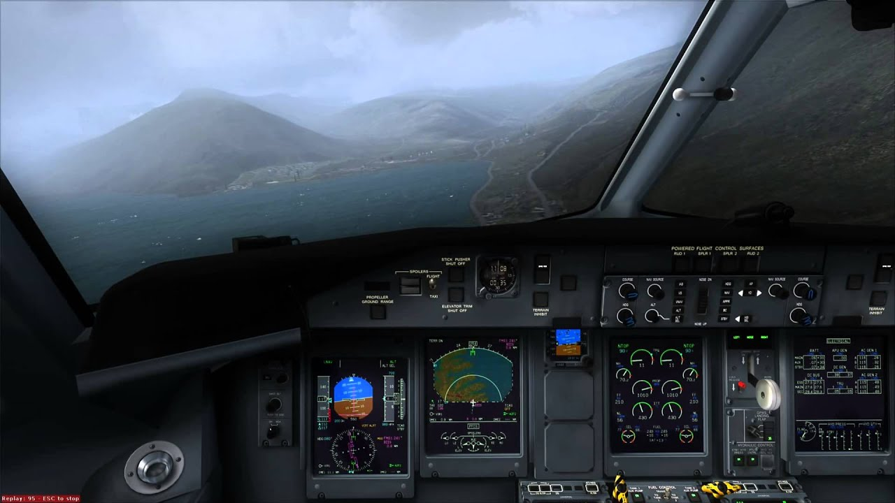 FSX Majestic Software Dash 8-Q400 landing at Ísafjörður ...