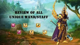 Review of All Unique Wands/Staffs - Drakensang Online (Thailand)
