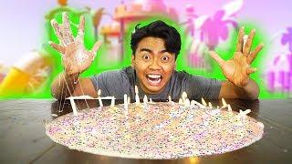 DIY BIRTHDAY CAKE SLIME!