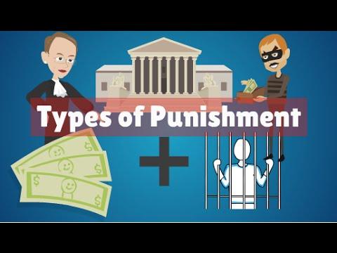 Types of Punishment , Criminal Law Ireland