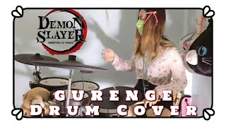 Demon Slayer : Kimetsu no Yaiba OP - LiSA - Gurenge [Full] - Drum Cover