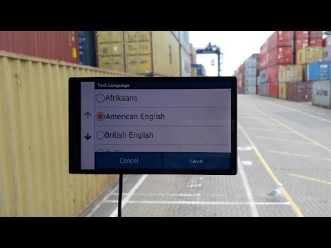 Garmin Drivesmart 61 American accent voice control set up