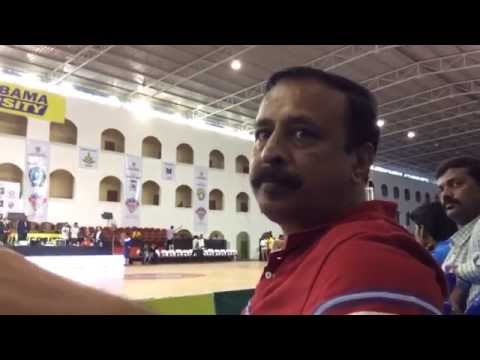 Jain University Bangalore's Basketball Coach Srinivasa Murthy in a quick chat