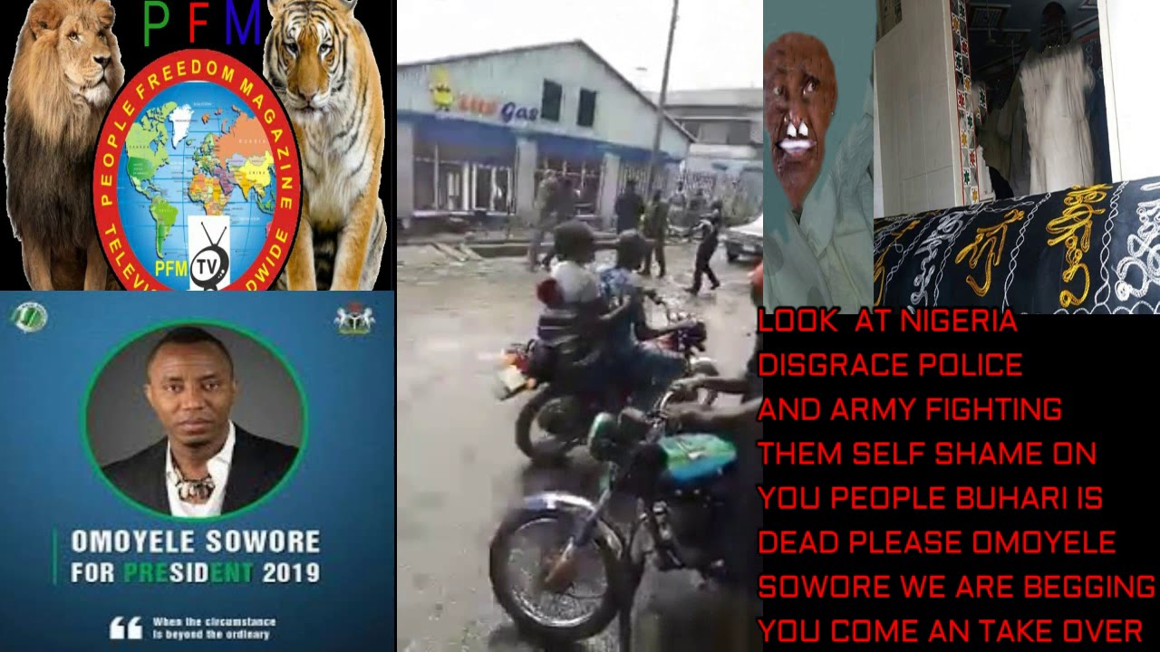 DISGRACE NIGERIAN POLICE AND ARMY FIGHTING THEM SELF OH OGA MUHAMMADU BUHARI YOU DON DIE