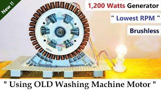 220V 6 Amp Electric Dynamo Generator 1200 Watts from Brushless DC Motor ( BLDC Washing Machine )