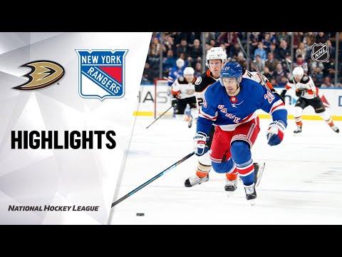 NHL Highlights   Ducks @ Rangers 12/22/19