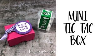 Mini Tic Tac Box