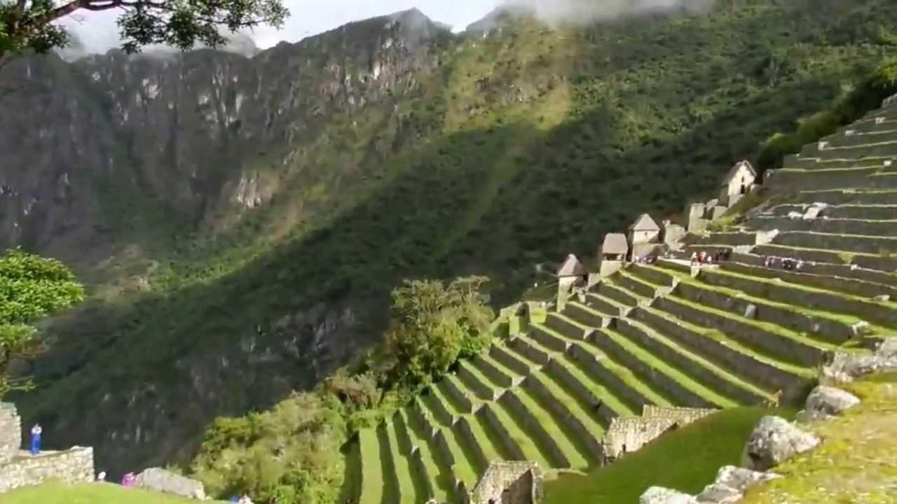 Ciudad Inka De Machupicchu O Machu Picchu Peru Terrazas Agrícolas