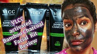 Charcoal Facial kit Use |Vlcc Activated Bamboo Charcoal Facial Kit Review|Home Facial |Shinny Roops