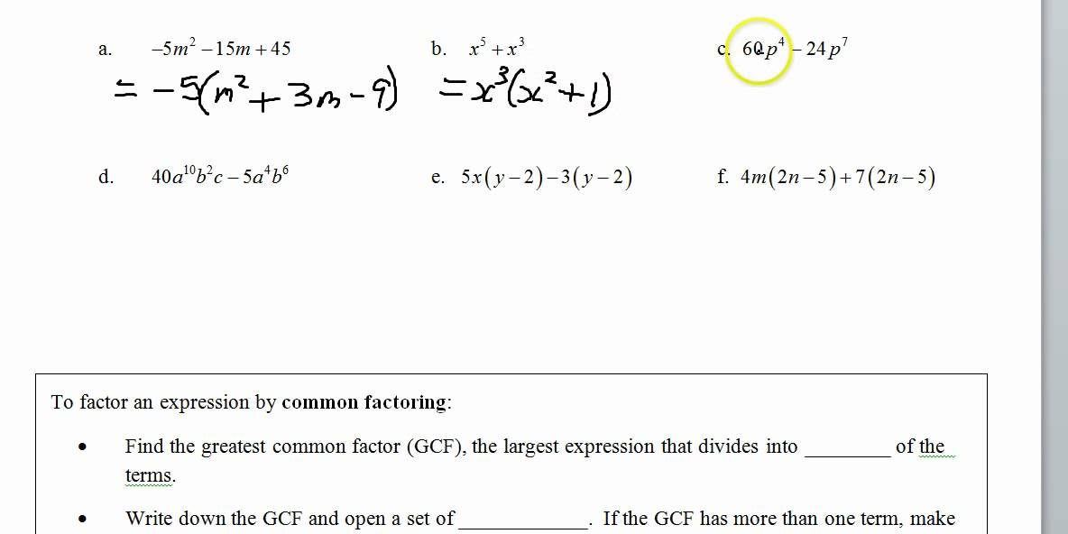 Common Factoring Factor by Grouping, Simplified Form - YouTube