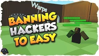 BANNING MORE HACKERS and GIVING THEM -9999999999999 | Yard Work Simulator
