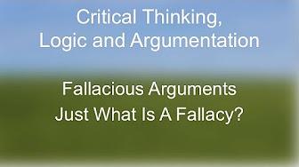 Critical Thinking Basics - Fallacies - YouTube