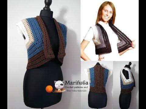 How To Crochet Easy Bolero Jacket Shrug For Beginners Free Easy