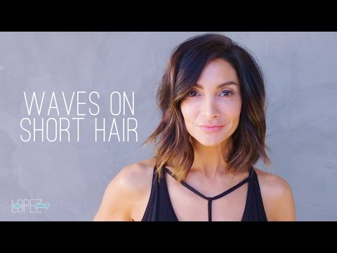 How to Get Loose Waves on Short Hair | Beauty with Courtney