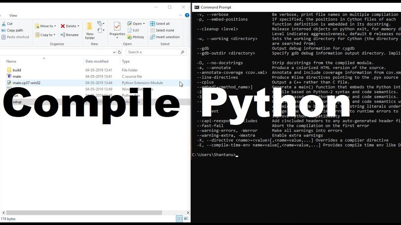 Compile Python Code [  py to  c to  pyd ][ EXECUTABLE ][ Windows ][ Cython ]