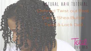 defined twist out on natural hair feat cantu shea butter l totaldivarea