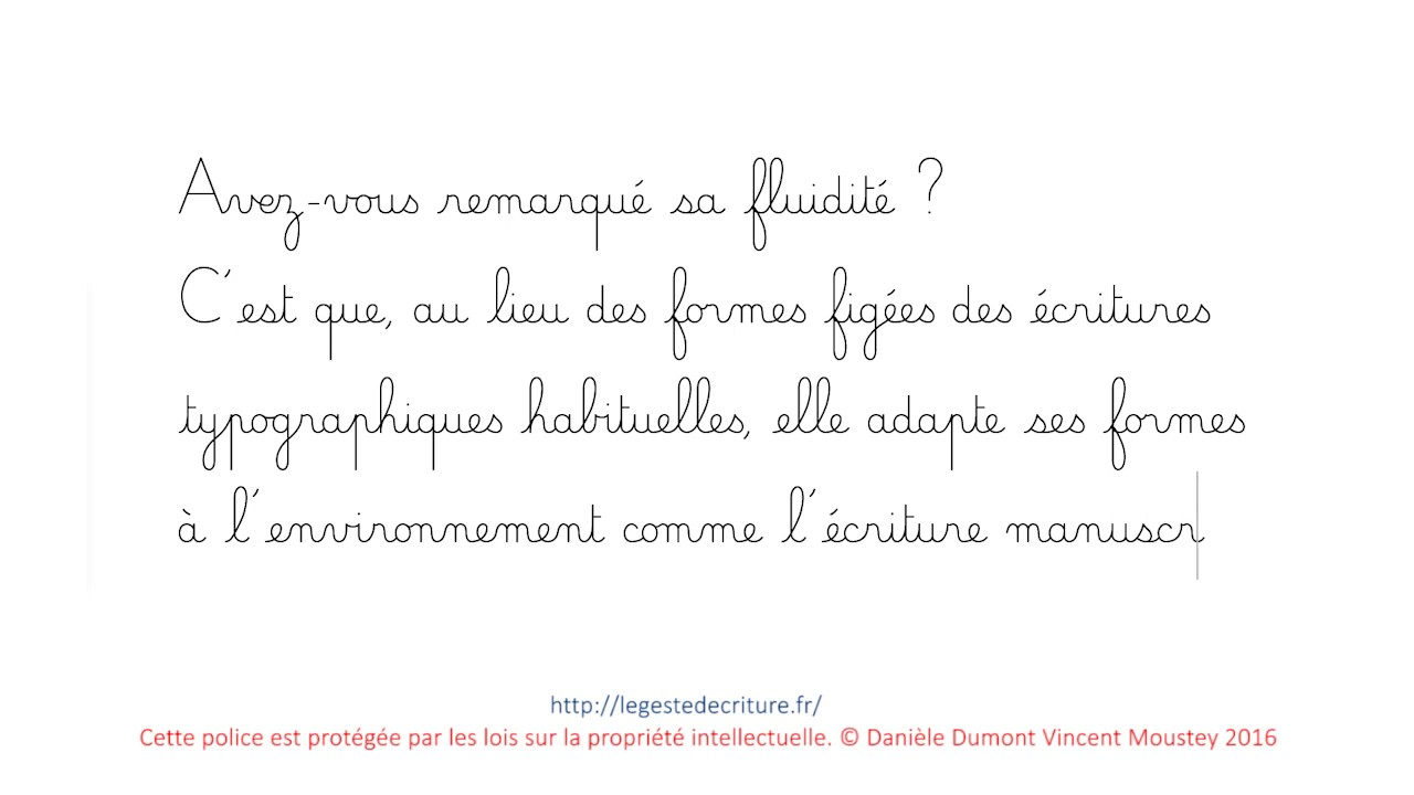 police cursive dumont maternelle