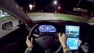 2015 Tesla Model S 85D - WR TV POV Night Drive