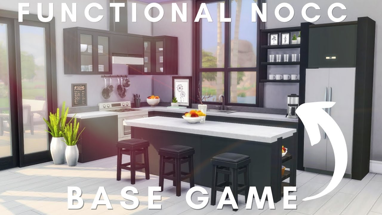 Futuristic Homeneedless To Say This Is Not My Usual Style I Just Wanted To Play With The T O O L Mod Will I Be Ma Sims House Sims House Design Sims 4 Kitchen