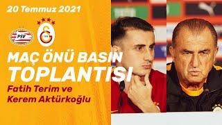 Teknik direktörümüz Fatih Terim ve oyuncumuz Kerem Aktürkoğlu'nun PSV maçı öncesi basın toplantısı