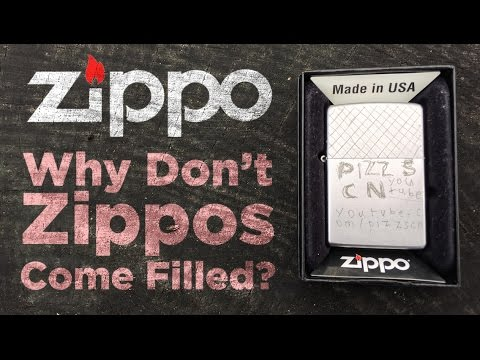 Zippo - Why Don't Zippos Come With Fluid?