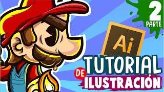 TUTORIAL - Como dibujar en adobe Illustrator con Mouse - Pinceles