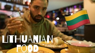 American Tries Lithuanian Food! - Vilnius, Lithuania Travel Vlog