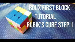 How to Solve the Rubik's Cube: Roux Method Step 1: First Block