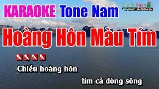 Hàng Hôn Màu Tím Karaoke 8795 | Tone Nam - Nhạc Sống Thanh Ngân