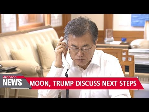 Moon, Trump discuss next steps after initial assessment of N. Korea's missile technology...